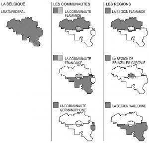图1-1 比利时行政区划图