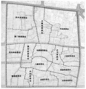 图1-3 八廊街历史文化街区内各居委会(社区)的分布