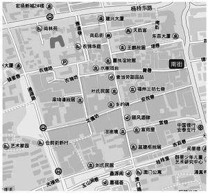 图1 现在的福州三坊七巷示意图