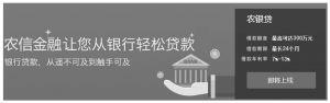 图5 农信网金融服务产品——农银贷