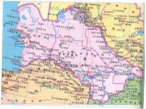 土库曼斯坦行政区划分图