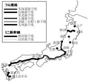 图5-3 日本新干线路线