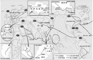 图5-2 世界石油、天然气运输管道