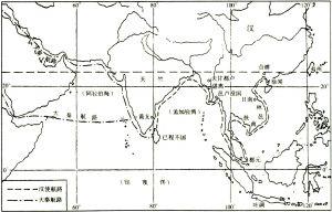 图2 西汉印度洋航路略图