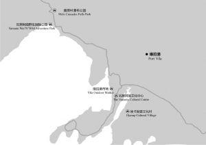 图5-1 维拉港主要景点分布示意