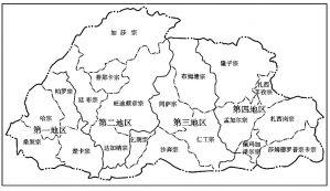 图1-2 2003年不丹行政区划图