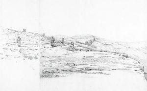古尔纳村民在挖掘文物