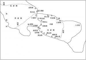 图1-2 安家湖各户村民分布情况