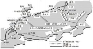 图3-6 日本新干线分布图