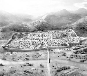 南海国王城概况图(根据史料记载及出土文物绘制)