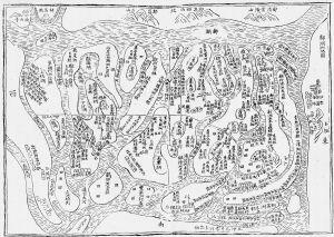 图2 同治十年(1871)刊《新建县志》所载道光十年《草洲图》