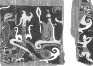 图3 彩绘漆瑟残片