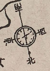 图9 《牟山湖志》附图的新方位坐标