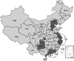 图1 中国大数据产业圈分布