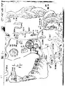 """图2-1 康熙年间""""台湾府总图"""""""