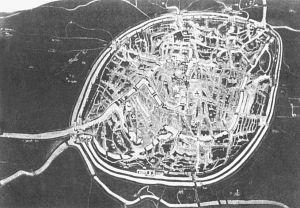图2-1 1500年左右的布鲁日(来自布鲁日市政厅的一幅画)