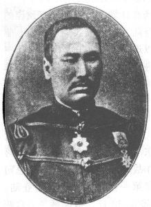 1894年11月初,日军混成旅第十二旅团编入第二军,在陆军少将长谷川好道督战下,占领金州、大连湾,21日进攻旅顺,攻占旅顺后,指挥日军对旅顺群众进行了大屠杀。图为长谷川好道