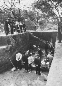 图1-2 洪江市高庙文化遗址考古现场(2004年)