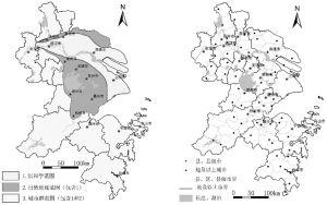图1-1 不同意义上的长江三角洲范围和行政区划