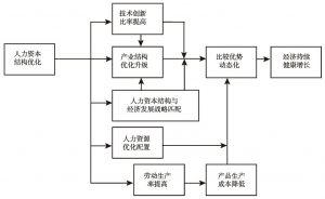 图6-3 人力资本结构与动态比较优势和经济增长间的作用机制