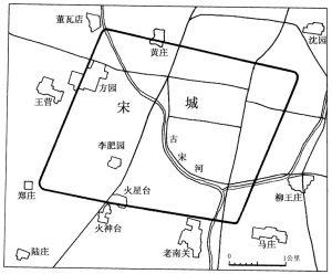 图二七 宋国故城平面图