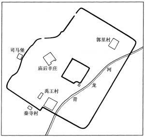 图三二 安邑故城平面图