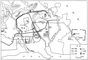 图三四 灵寿故城平面图