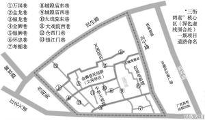 """图1 南宁市""""三街两巷""""历史街区改造示意"""