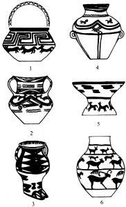 图4 四坝文化、辛店文化彩陶器