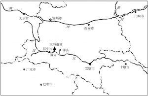 图二 宝山遗址位置示意图