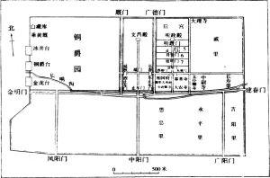 图2 曹魏邺城平面复原示意图