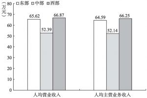 """图7-9 2013年""""文化相关产品的生产""""部分企业人均产出的地区比较"""