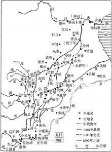 图4 北宋后期黄河北流、东流图