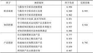 表28-2 CFA分析及信度检验结果