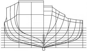 图2 横剖线图