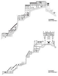 图4-3 布达拉宫剖面结构
