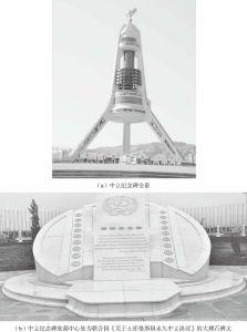 图2-1 土库曼斯坦中立的永恒物证——土库曼斯坦中立纪念碑