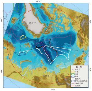 图1-2 北极国家海上边界