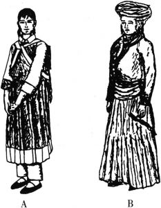 纳西族女性服饰