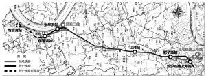图1 吴淞铁路与淞沪铁路路线关系示意