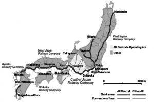 图8-9 日本新干线布局