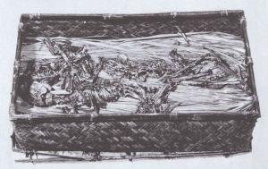 图1-8 马王堆汉墓出土盛有野兔骨的竹笥