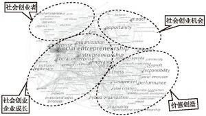 图2-7 国外社会创业研究的关键词共现图谱