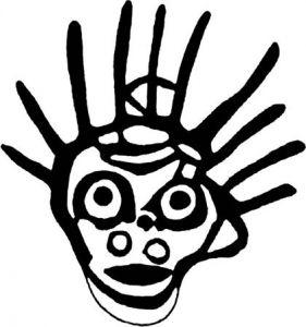 图2-14 太阳头饰的面具