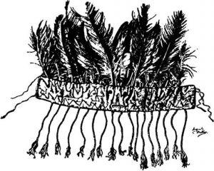 图3-4 图瓦萨满有鹰羽的头饰