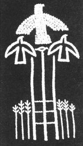 图3-12 顶部有鸟的萨满树