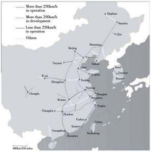 图3 中国高速铁路现状