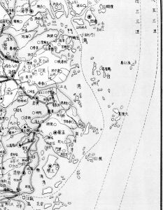 图6 1910年左右上海出版《浙江省图》渔山周边海域