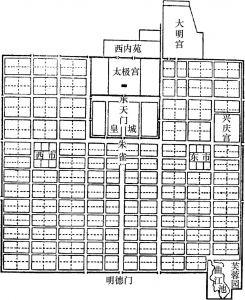 图2 唐长安城平面示意图