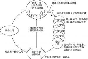 图2-1 社会表征的形成过程